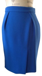 J.Crew Front Slit Career Skirt Blue