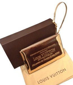 Louis Vuitton Limited Edition Gold Miroir Pochette Wristlet in Mirror GOLD