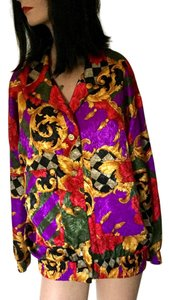 Victor Carlini Italian Travel Washable Floral Floral Jacket