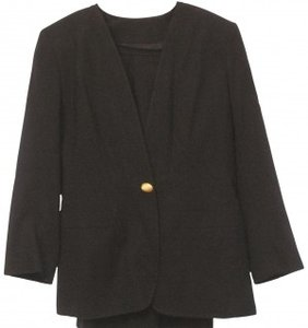 KASPER BLACK WOOL SUIT