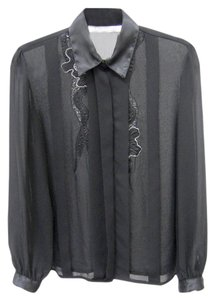 Karen Scott Button Down Shirt black