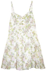 H&M short dress white Garden Party Girly Floral Light Spaghetti Strap on Tradesy