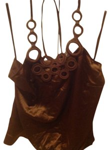 The Limited Like New Rich Color Silky & Slinky Brown Halter Top