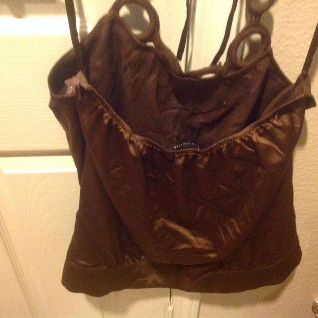 The Limited Like New Rich Color Silky & Slinky Brown Halter Top Image 6