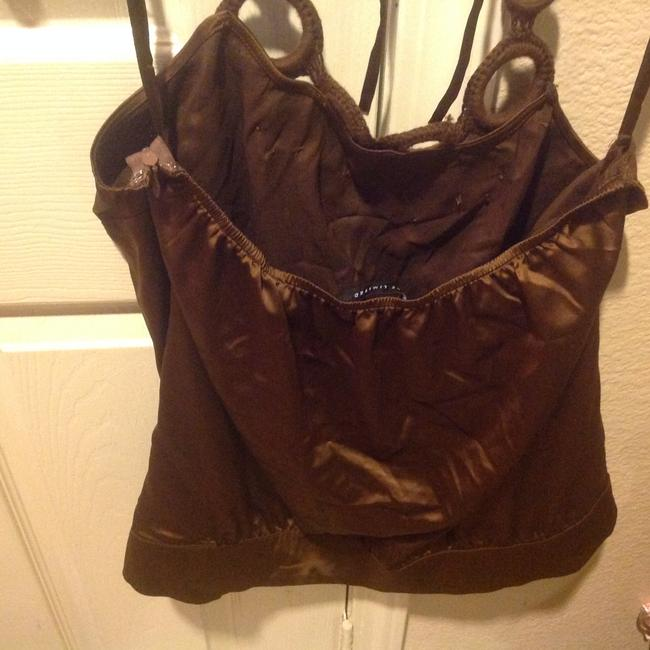 The Limited Like New Rich Color Silky & Slinky Brown Halter Top Image 7
