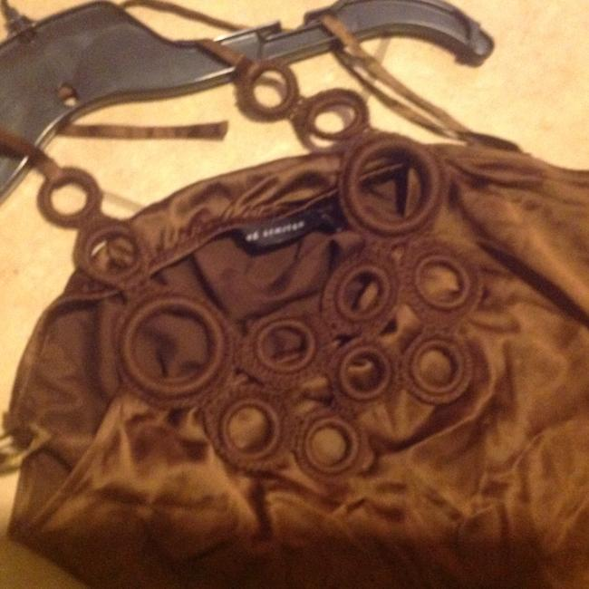 The Limited Like New Rich Color Silky & Slinky Brown Halter Top Image 8