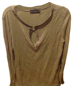 The Limited Like New Long Sleeve With Sequin Details T Shirt Olive Green