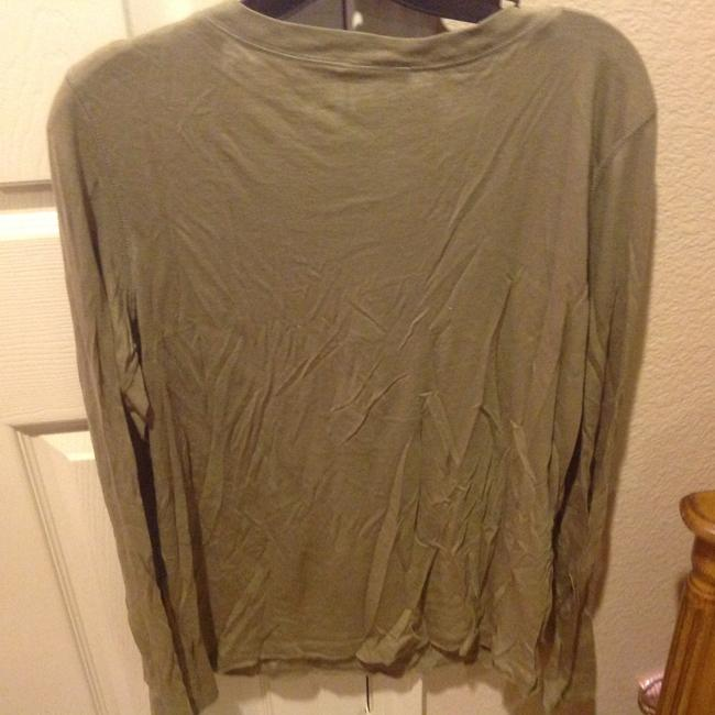 The Limited Like New Long Sleeve With Sequin Details T Shirt Olive Green Image 1