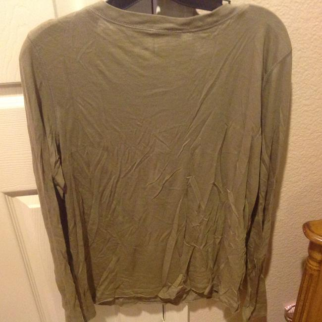 The Limited Like New Long Sleeve With Sequin Details T Shirt Olive Green Image 2