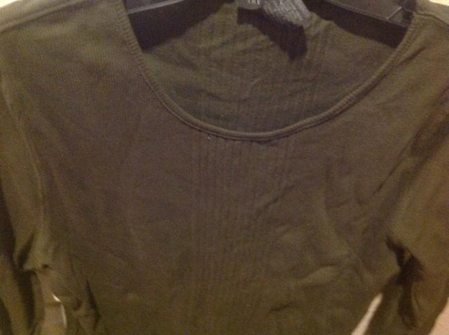 Express Never Worn T Shirt Olive Geeen Image 7