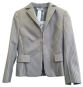 Akris Punto Stripe Tan/Cream Blazer