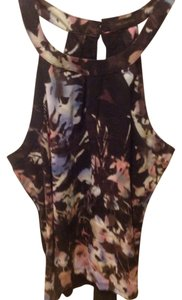 The Limited Black, multiple color abstract Halter Top