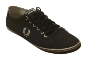 Fred Perry Textile Synthetic Sole Classic Lace-up Sneaker Featuring Embroidered Logo At Quarterpanel And Striped Midsole Textured black Flats