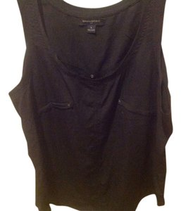 Banana Republic Sleeveless Medal Decals Top Black