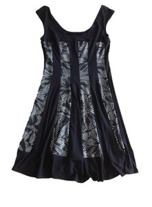 Connected Apparel Sequin Floral Dress