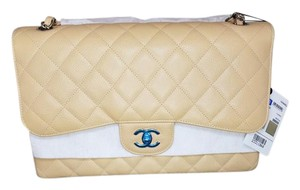 Chanel Double Flap Jumbo Caviar Double Flap Handbag Shoulder Bag