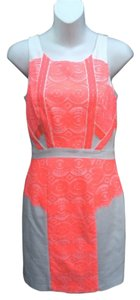 Gianni Bini short dress Neon coral on Tradesy