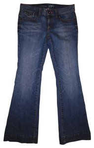 Ann Taylor LOFT Modern Denim Low-rise Flare Leg Jeans-Medium Wash