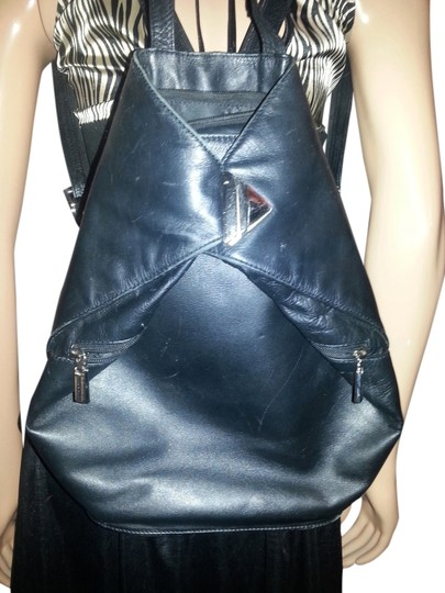 Preload https://item4.tradesy.com/images/sophia-visconti-triangular-from-the-popular-black-leather-backpack-1298893-0-0.jpg?width=440&height=440