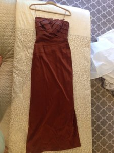Aidan Mattox Burnt Orange Dress