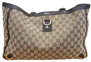 Gucci Handbags Tote in GG Brown Canvas