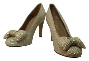 See by Chloé Sequin Pump Bows Gold Pumps