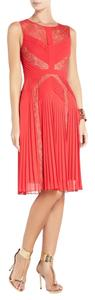 BCBGMAXAZRIA Lace Sexy Cut-out Pleated Dress