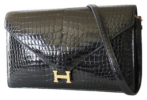 Hermès Clutch Alligator Crocodile Exotic Shoulder Bag