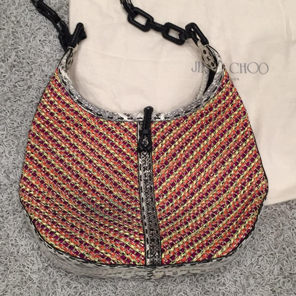 Woven Hobo Jimmy Lara Choo Shoulder Bag Cord trimmed Elaphe SxfFZq