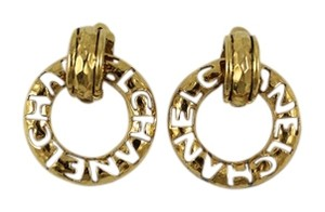 Chanel Chanel Vintage 1990's Cutout Two Way Earrings