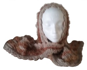 hand crocheted by me New, never used hood with attacheted scarf