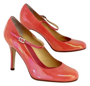 Kate Spade Iridescent Coral Patent Pumps