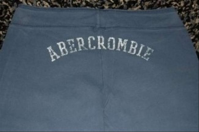 Abercrombie & Fitch Cotton Flare Leg Long Length Lounge Pajamas Sweatpants Relaxed Pants Navy