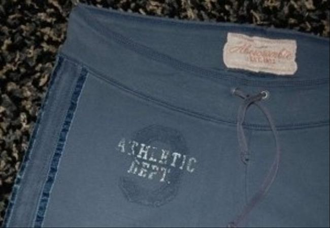 Abercrombie & Fitch Flare Leg Long Length Lounge Pajamas Sweat Relaxed Pants Navy