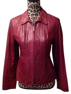 Banana Republic Maroon Leather Jacket