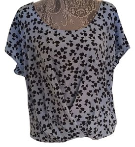 Joie Top Blue and Black