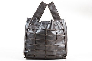 Chanel Leather Pintuck Quilted Two Strap Tote in Brown
