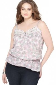 DKNY Sweetheart Neckline Top Pebble Combo