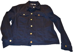 Jones New York Coat Light Weight Navy Indigo Jacket