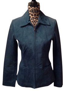 Bernardo Teal Leather Jacket