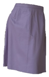 Terry Lewis Leather A-line Skirt Lavender