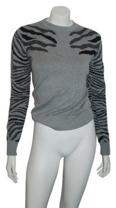 Torn by Ronny Kobo Knit Fitted Cotton V-neck Sweater