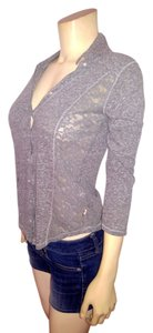 Hollister Lace 3/4 Sleeves P1974 Size X-small Button Down Shirt gray