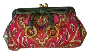 Isabella Fiore Pink Green Clutch