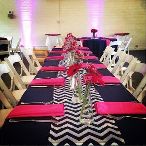 Navy Blue and White Chevron Reserved For Vernessa Tablecloth