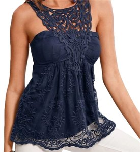 Boston Proper navy Halter Top