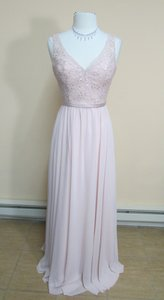 Mori Lee Blush Beaded Lace with Chiffon 122 Modern Bridesmaid/Mob Dress Size 8 (M)