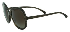 Chanel New CHANEL 5320 Taupe Brown Oval Signature Collection Sunglasses