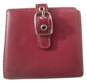 Coach Coach Red Leather Bifold Wallet