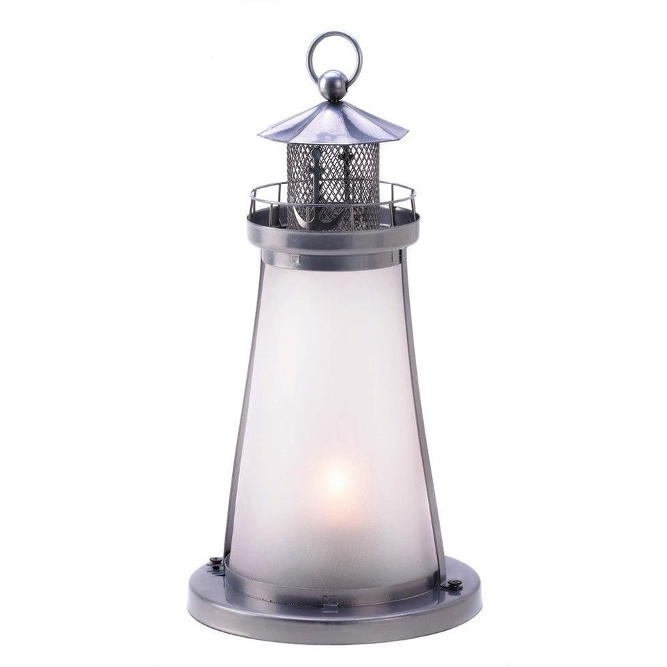10- Nautical Theme Lighthouse Candle Lanterns W/ Frosted Glass ...